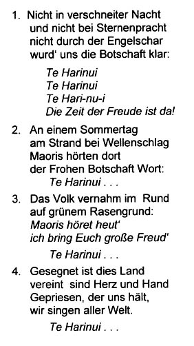 in 2002 german school teacher benno niggemeyer translated te harinui and taught it to his pupils as part of a social studies project about new zealand